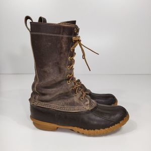 """L. L. Bean Men's Maine Hunting Shoes 12"""" duck boot"""